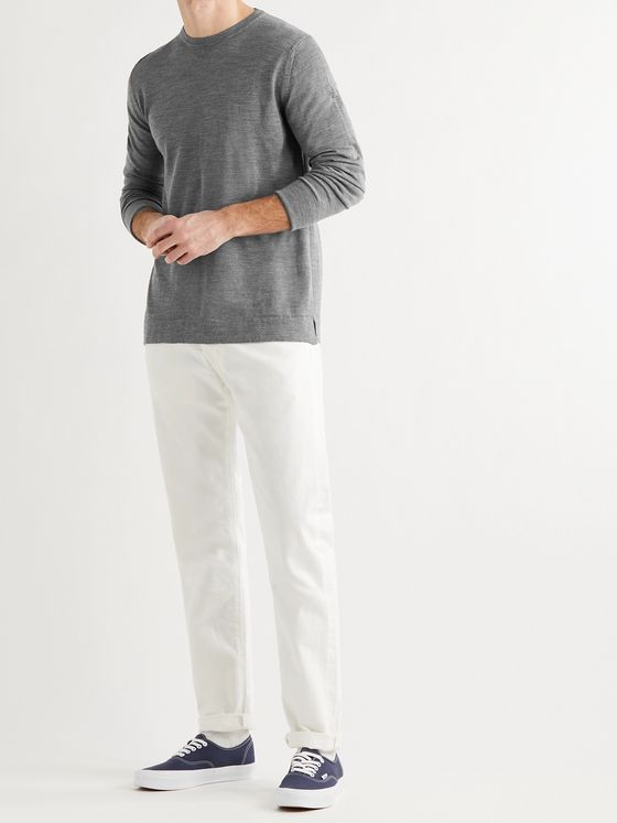 OFFICINE GÉNÉRALE Nina Mélange Wool and Silk-Blend Sweater
