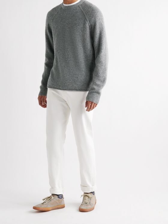 JAMES PERSE Mélange Cashmere Sweater