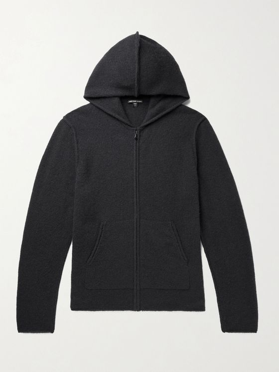 JAMES PERSE Cashmere Zip-Up Hoodie