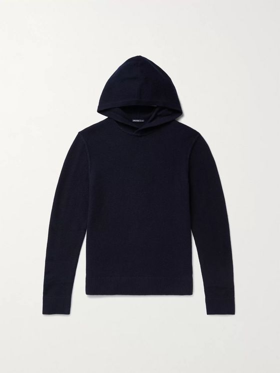 JAMES PERSE Slim-Fit Waffle-Knit Cashmere Hoodie