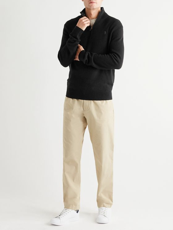 Polo Ralph Lauren Wool and Cashmere-Blend Half-Zip Sweater