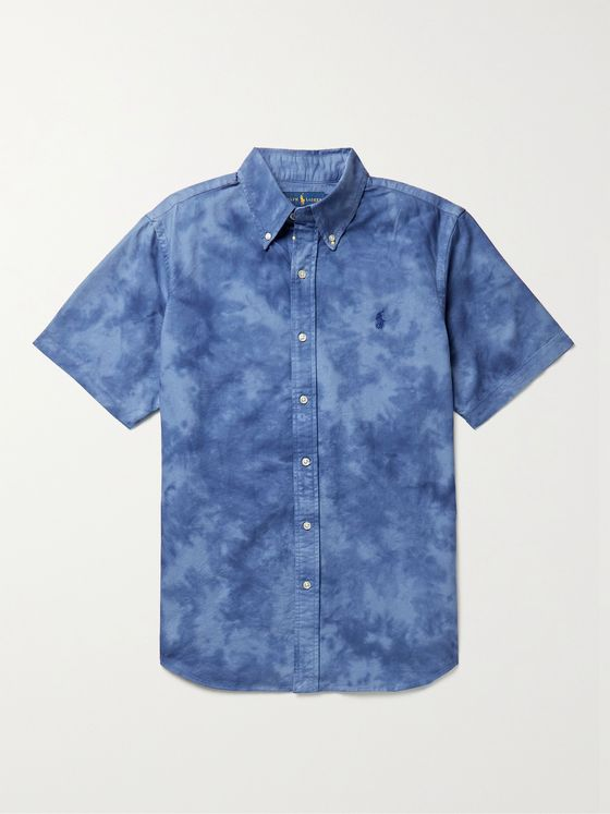 POLO RALPH LAUREN Button-Down Collar Tie-Dyed Cotton Oxford Shirt