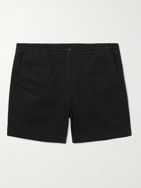 POLO RALPH LAUREN Logo-Embroidered Stretch-Cotton Twill Shorts