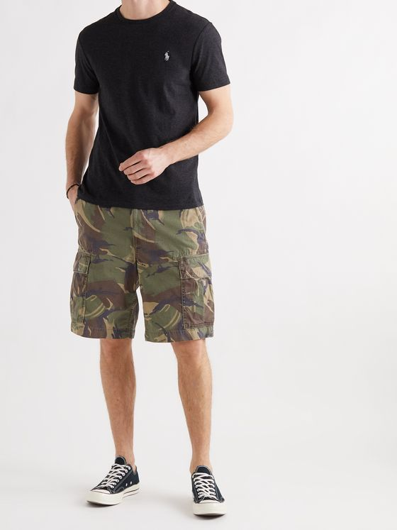 POLO RALPH LAUREN Camouflage-Print Cotton-Ripstop Cargo Shorts
