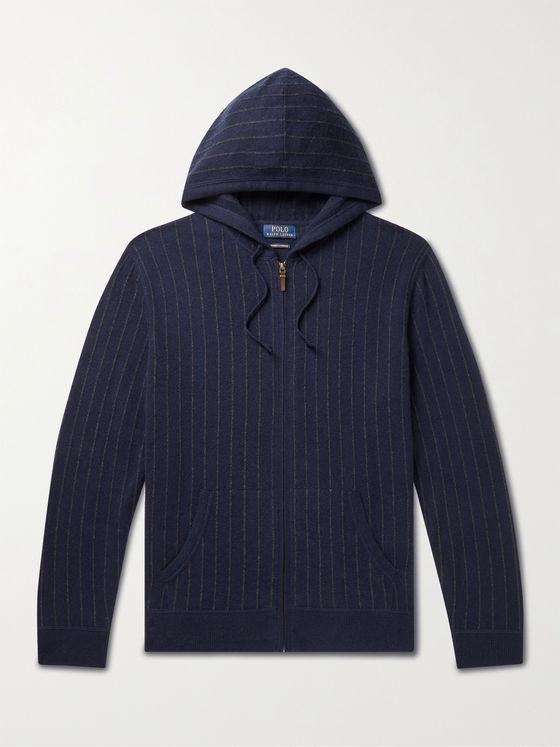 POLO RALPH LAUREN Pinstriped Cashmere Hoodie