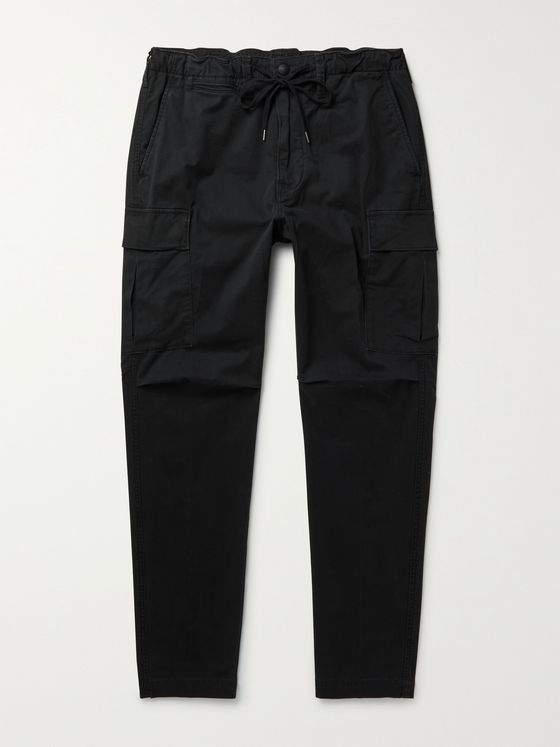 POLO RALPH LAUREN Tapered Stretch-Cotton Twill Drawstring Cargo Trousers