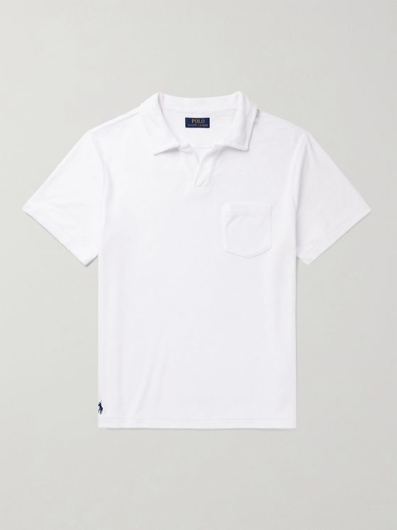 POLO RALPH LAUREN Cotton-Blend Terry Polo Shirt