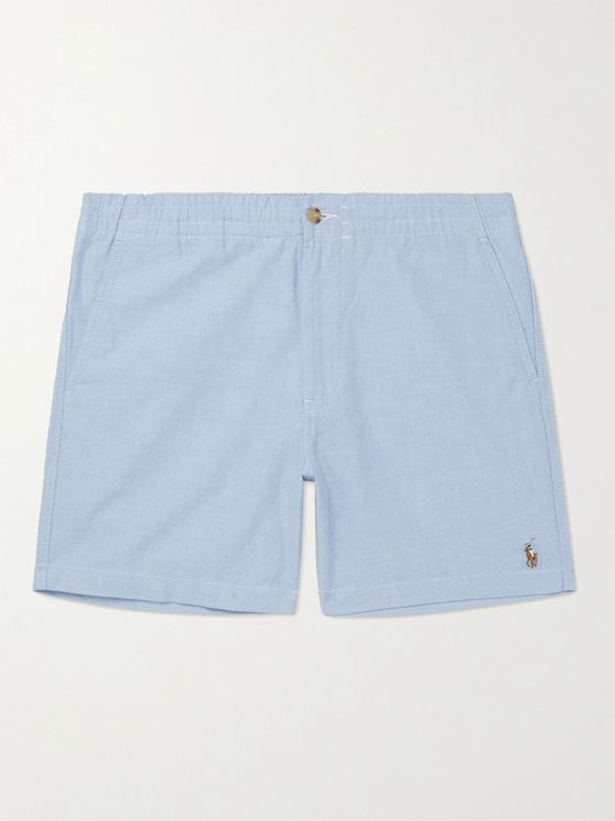 POLO RALPH LAUREN Logo-Embroidered Cotton Oxford Shorts