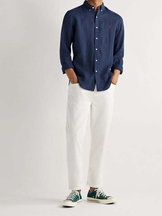 POLO RALPH LAUREN Slim-Fit Button-Down Collar Linen Shirt