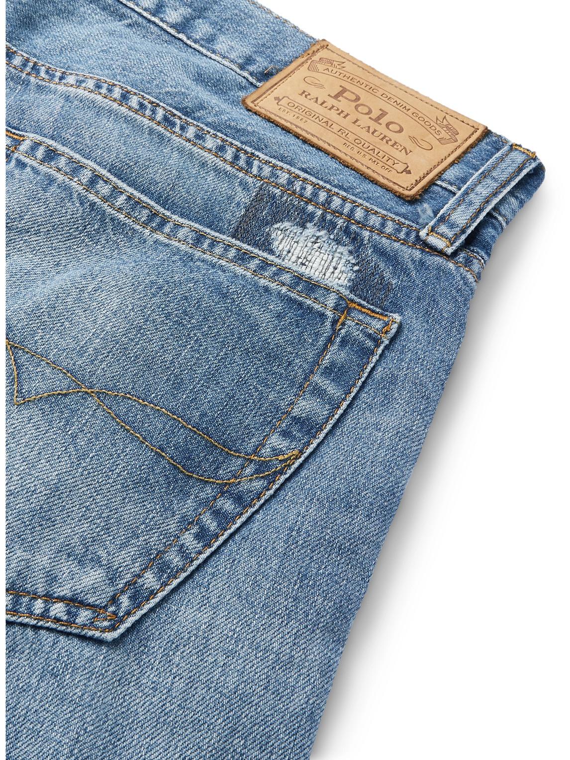 POLO RALPH LAUREN Straight jeans SULLIVAN SLIM-FIT DISTRESSED DENIM JEANS