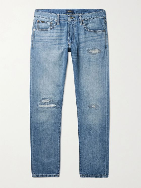 POLO RALPH LAUREN Sullivan Slim-Fit Distressed Denim Jeans