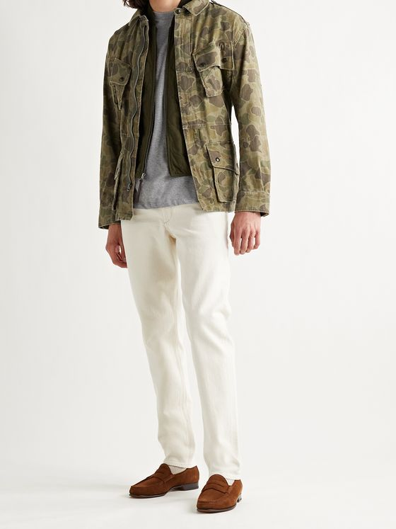 POLO RALPH LAUREN Camouflage-Print Cotton-Twill Belted Jacket