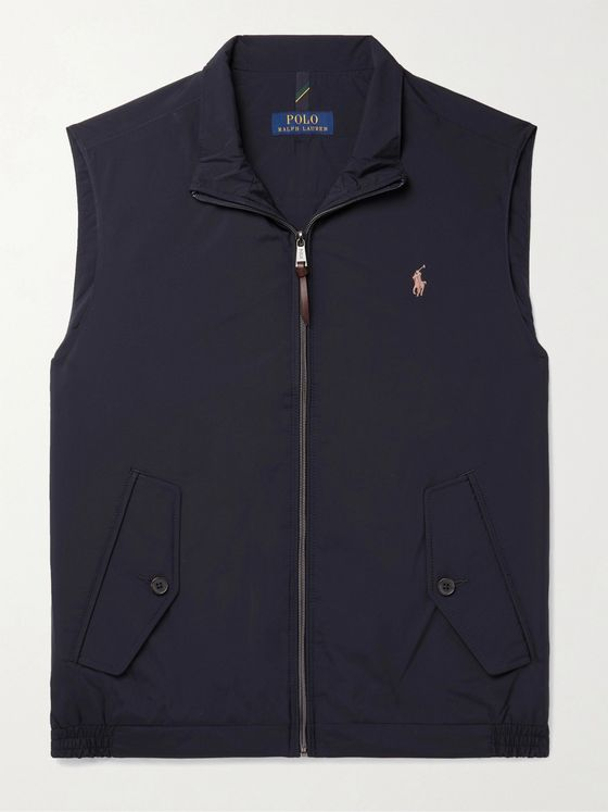 POLO RALPH LAUREN Logo-Embroidered Recycled Shell Gilet
