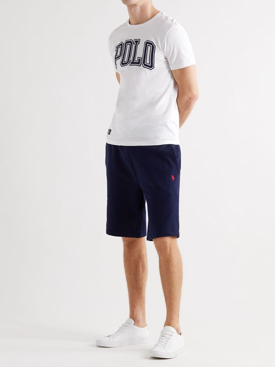 POLO RALPH LAUREN Slim-Fit Logo-Appliquéd Cotton-Jersey T-Shirt