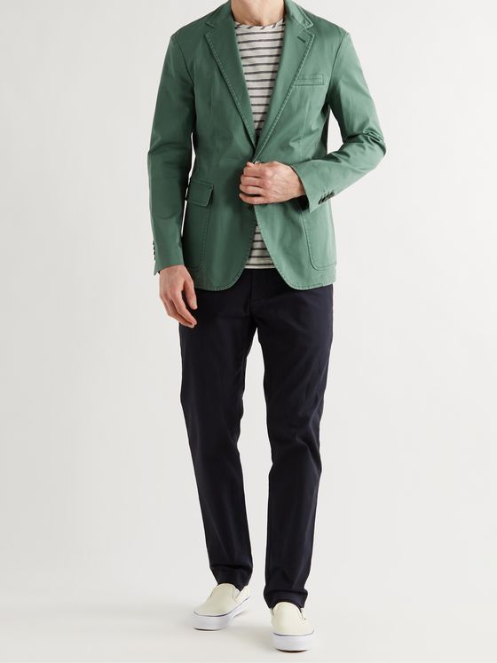 POLO RALPH LAUREN Unstructured Garment-Dyed Stretch Cotton-Twill Blazer
