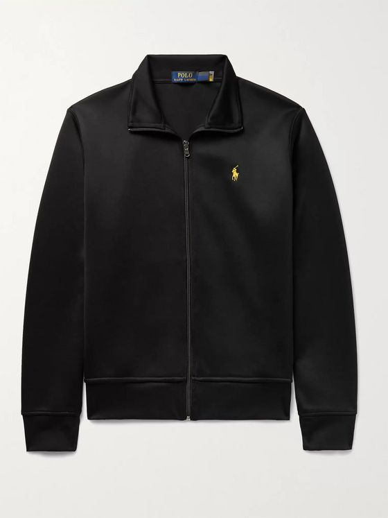 POLO RALPH LAUREN Piped Logo-Embroidered Tech-Jersey Track Jacket