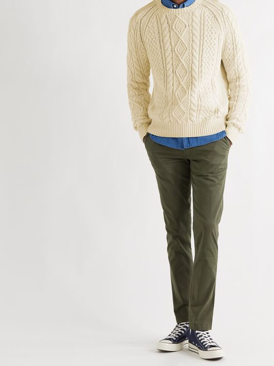 POLO RALPH LAUREN Slim-Fit Cable-Knit Cotton Sweater