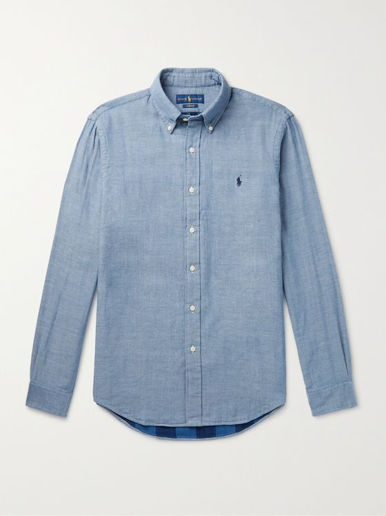 POLO RALPH LAUREN Button-Down Collar Cotton-Chambray Shirt