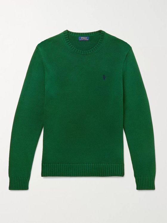 POLO RALPH LAUREN Logo-Embroidered Cotton Sweater