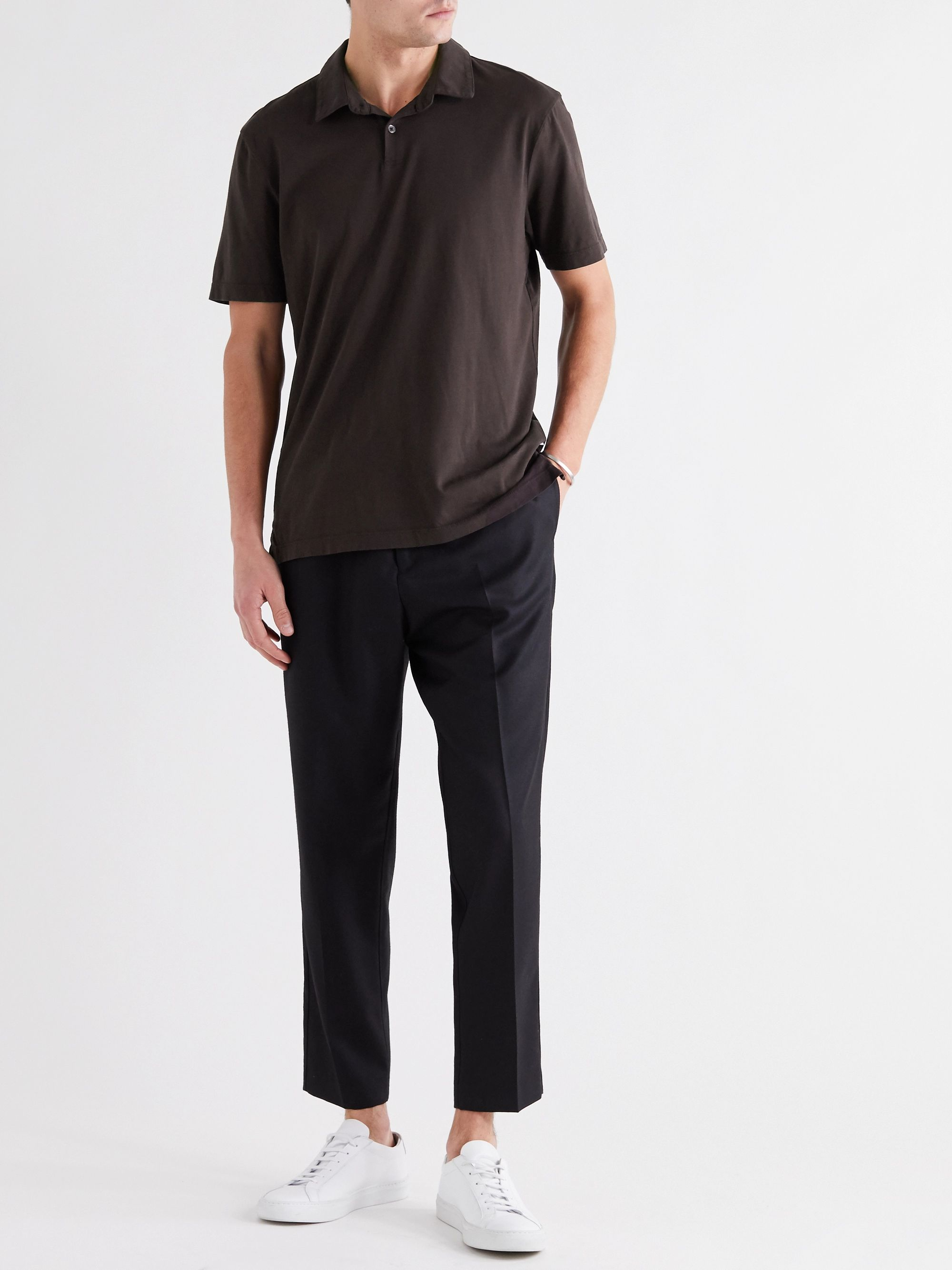 JAMES PERSE Supima Cotton-Jersey Polo Shirt