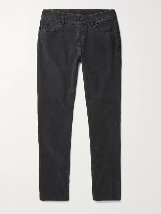 James Perse Slim-Fit Stretch-Cotton Corduroy Trousers