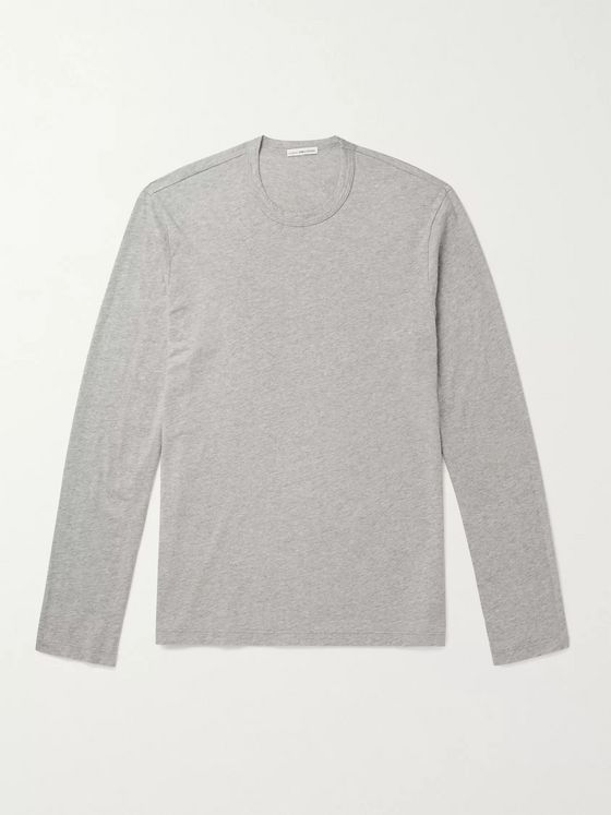 JAMES PERSE Mélange Combed Cotton-Jersey T-Shirt
