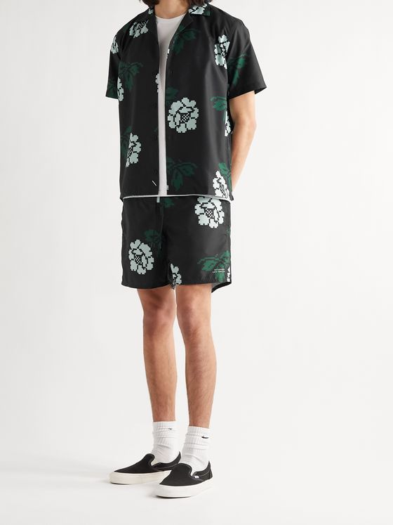 Saturdays NYC Timothy Rose Mid-Length Swim Shorts