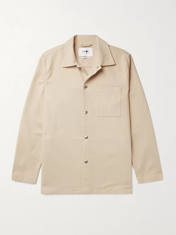 NN07 Basim Stretch-Cotton Overshirt