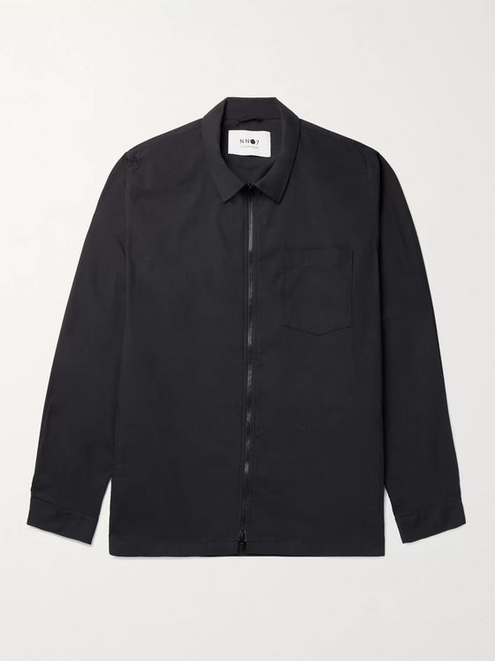 NN07 Cotton-Blend Twill Overshirt