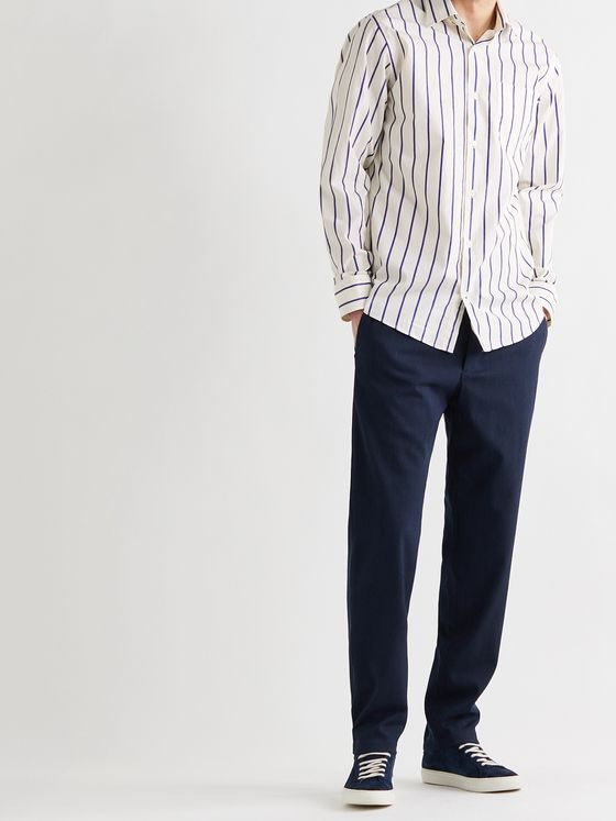 NN07 Errico Striped Cotton Shirt