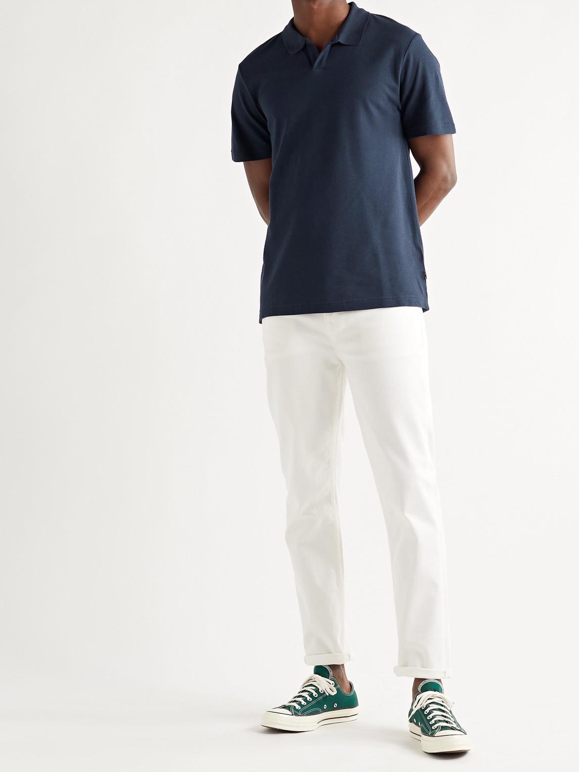 NN07 Cottons PAUL COTTON AND MODAL-BLEND PIQUÉ POLO SHIRT