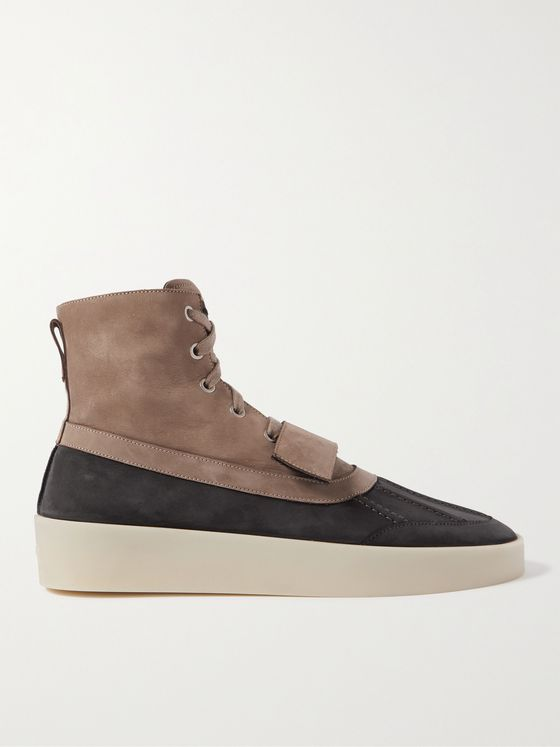 FEAR OF GOD Panelled Nubuck Duck Boots