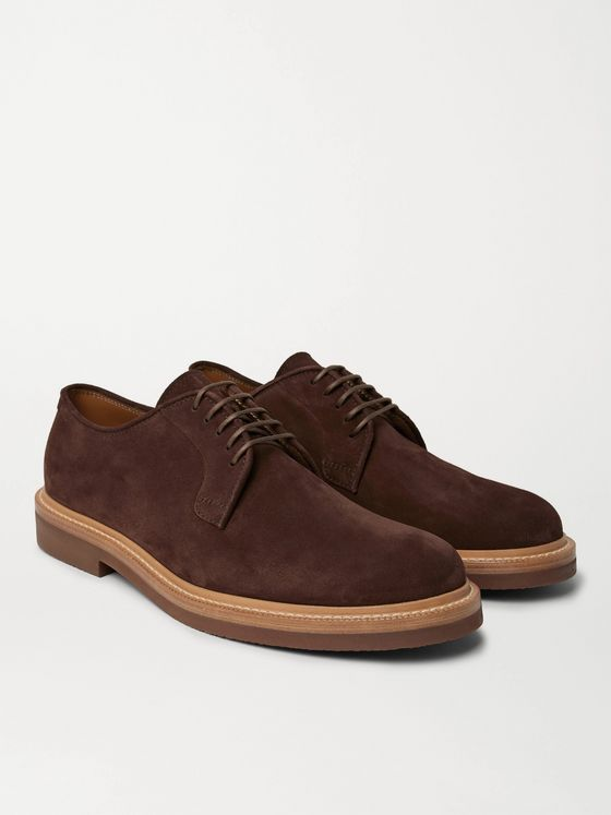 Brunello Cucinelli Suede Derby Shoes