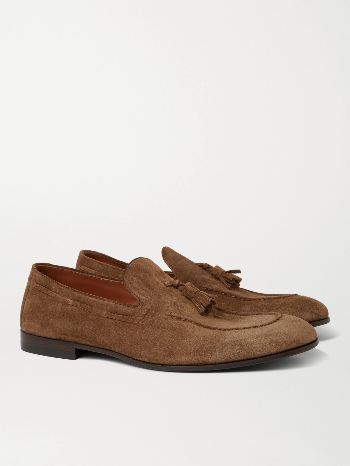 BRUNELLO CUCINELLI SUEDE TASSELLED LOAFERS