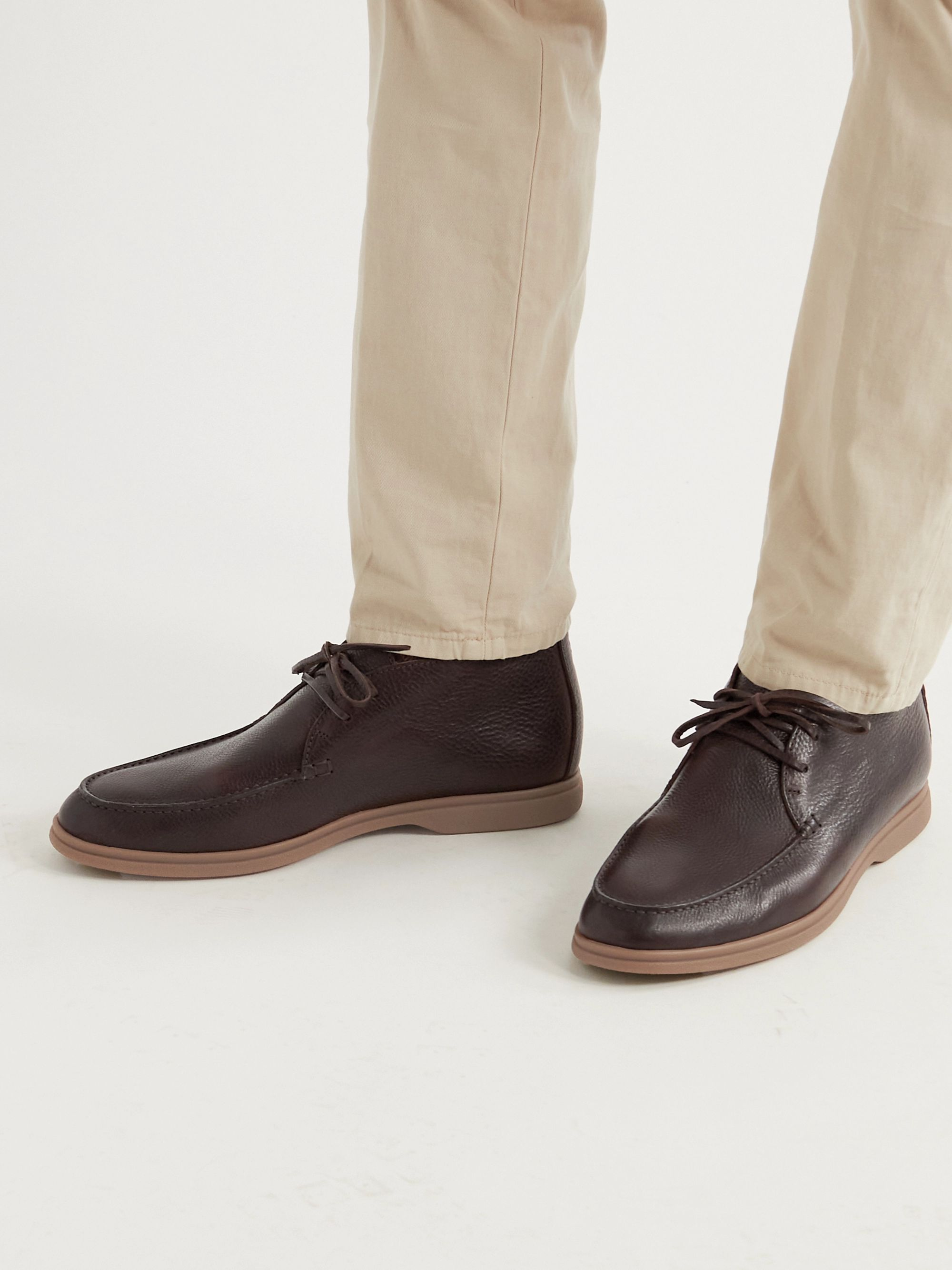 BRUNELLO CUCINELLI Full-Grain Leather Chukka Boots