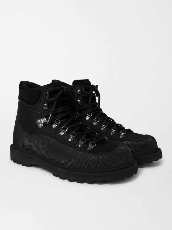 DIEMME Roccia Vet Rubber and Leather-Trimmed Mesh CORDURA Boots