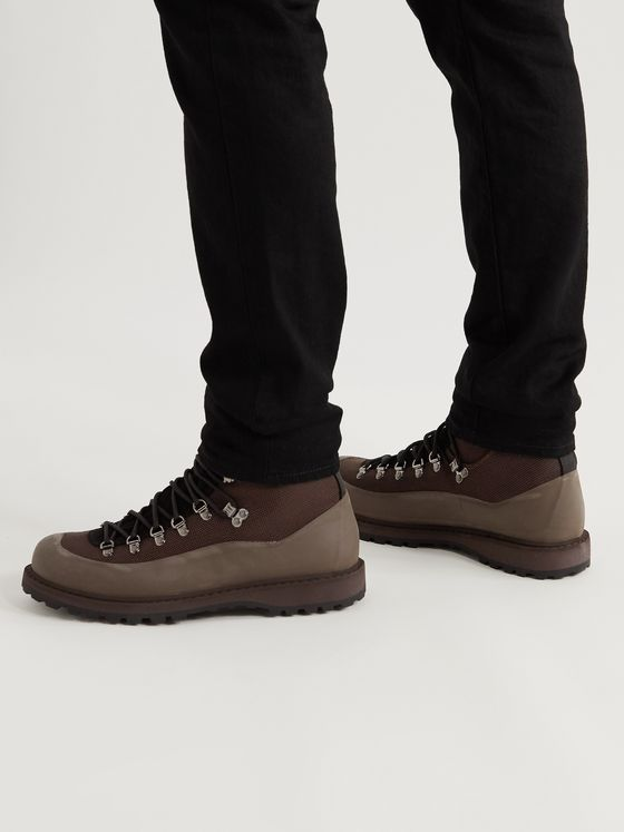 DIEMME Roccia Vet Rubber and Nubuck-Trimmed CORDURA Hiking Boots