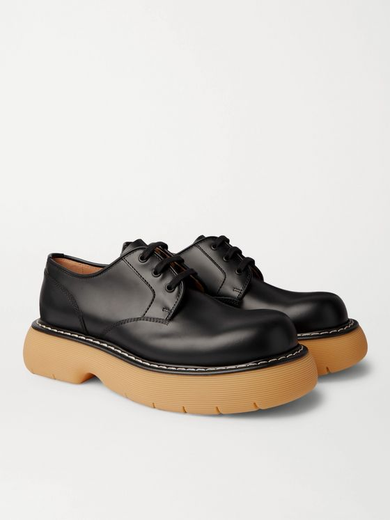 BOTTEGA VENETA The Bounce Leather Derby Shoes