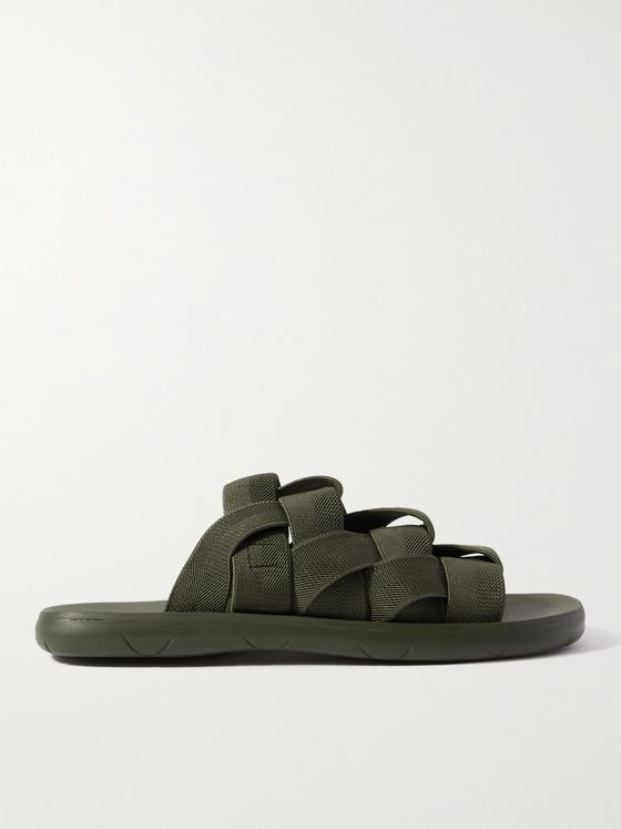 BOTTEGA VENETA Intrecciato Canvas Slides