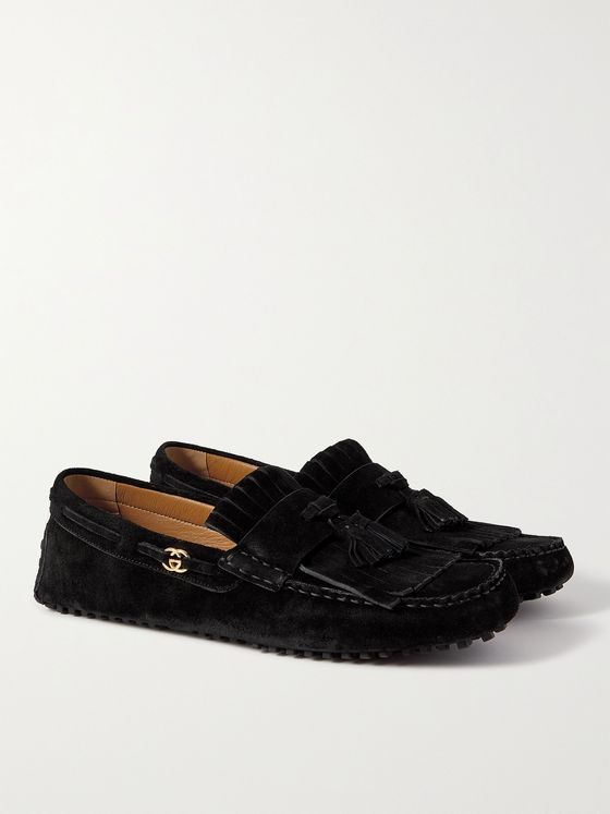 GUCCI Ayrton Kilty Suede Tasselled Driving Shoes