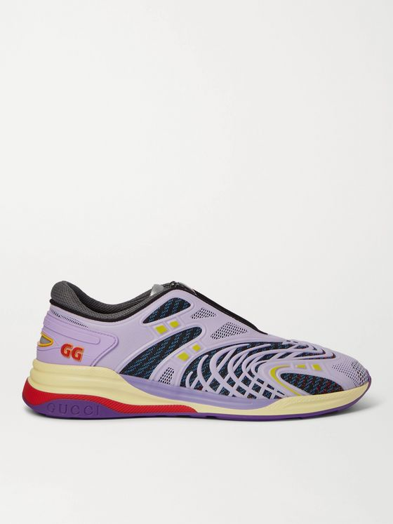 GUCCI Ultrapace R Mesh and Rubber Sneakers