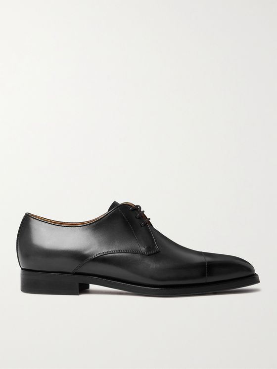 BERLUTI Cap-Toe Venezia Leather Derby Shoes