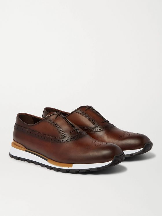 BERLUTI Fast Track Leather Brogue Sneakers