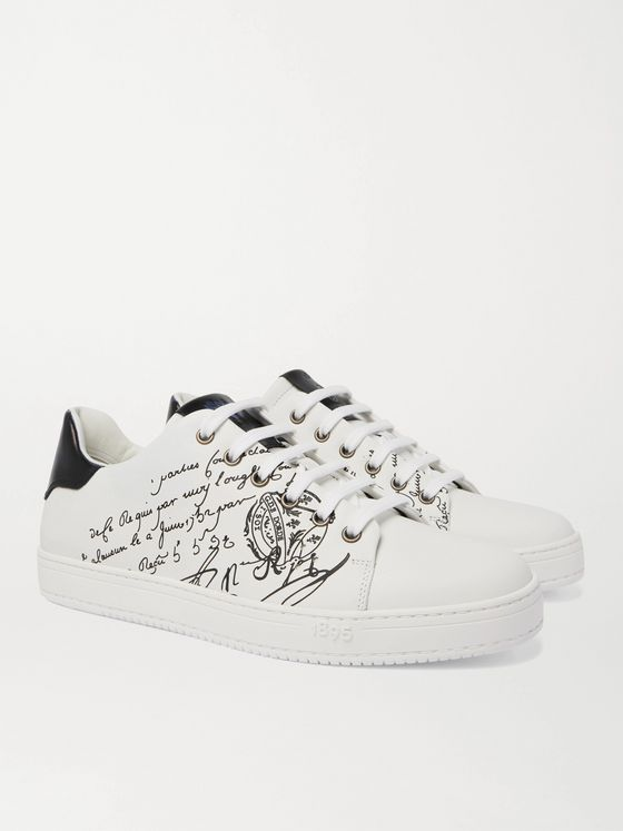 BERLUTI Playtime Scritto Venezia Leather Sneakers