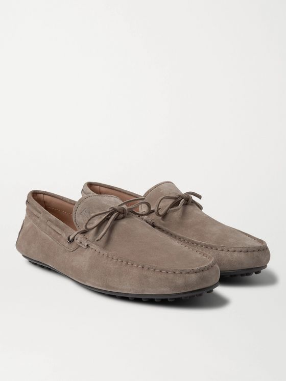 TOD'S City Suede Driving Shoes