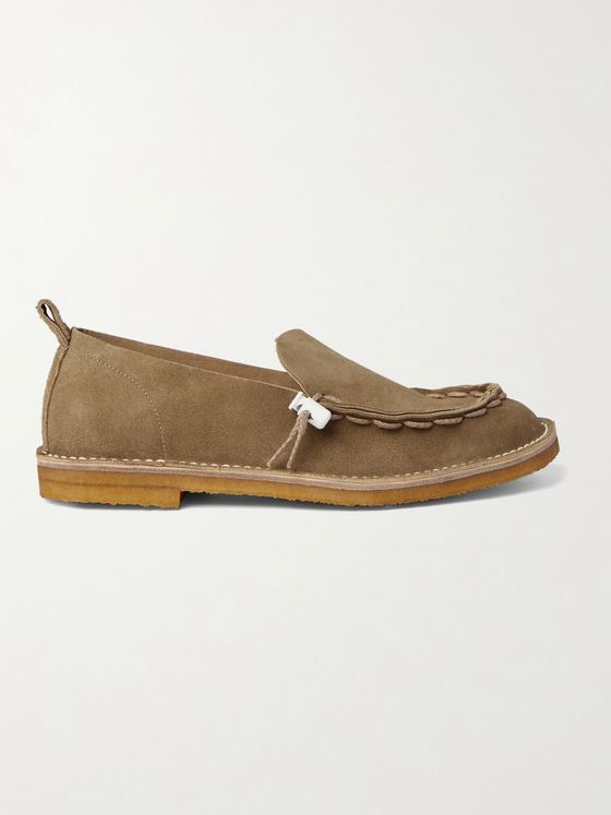 Hender Scheme Self Lace Mocca Suede Loafers