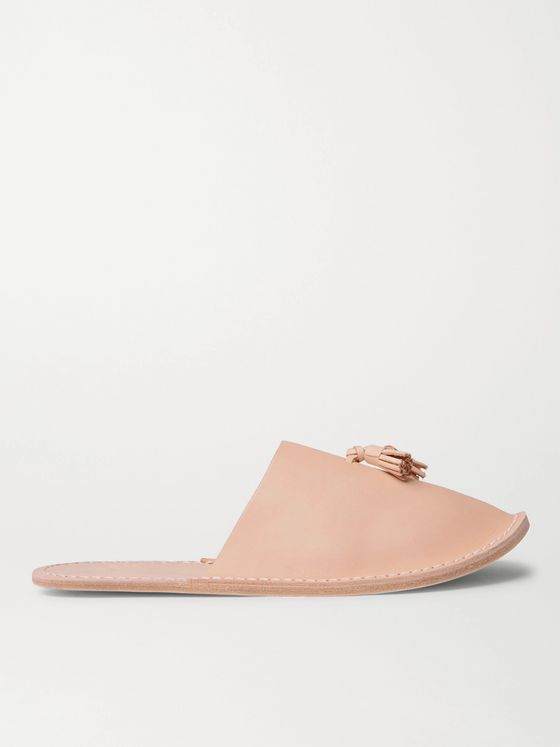 Hender Scheme Leather Tasselled Backless Slippers