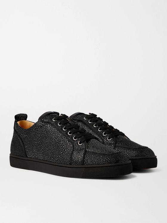 CHRISTIAN LOUBOUTIN Rantulow Textured-Suede Sneakers