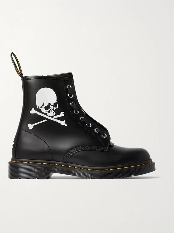 DR. MARTENS + MASTERMIND WORLD 1460 Printed Leather Boots