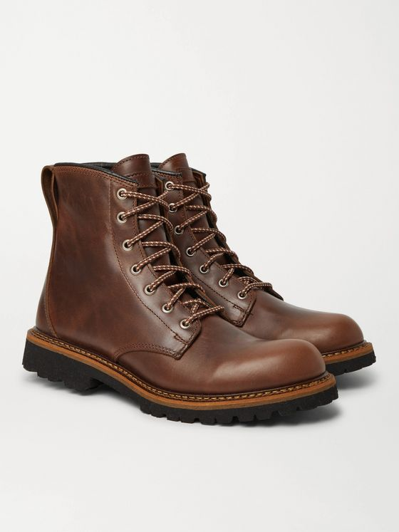 QUODDY Maine Woods Burnished-Leather Boots